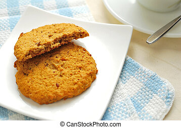 Half eaten cookies - Half eaten healthy cookies for...