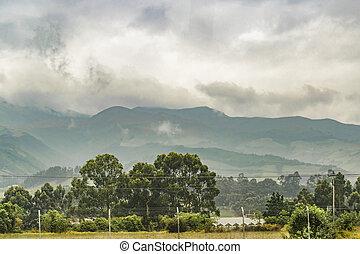Ecuador Landscape Scene at Andes Range - Landscape scene...