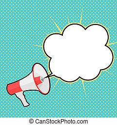 Megaphone with Speech Bubble Vector Illustration