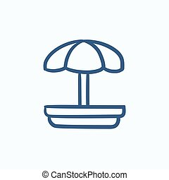 Playground sketch icon - Playground vector sketch icon...