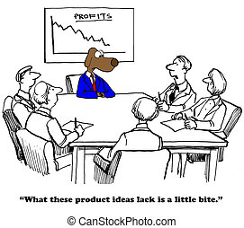 New Products - Business cartoon about needing more...