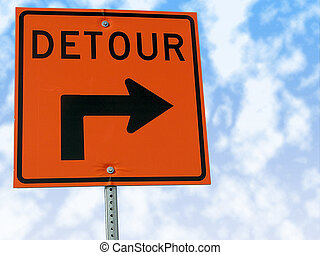 Detour traffic sign