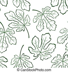 Seamless Background, Fig Leaves - Seamless Tile Pattern, Fig...