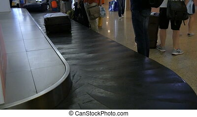 Baggage claim airport. - Baggage belt, baggage claim airport