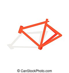 Bicycle frame icon, isometric 3d style