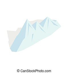 Snowy mountains icon, isometric 3d style - Snowy mountains...