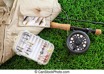 Fly fishing rod and asessories