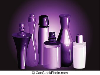 perfume Perfume bottles, shampoo, or deodorant spray, oil