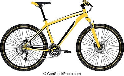 mountain bike vector - mountain bike in vector on white...
