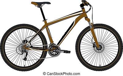 mountain bike vector - mountain bike in vector on white...