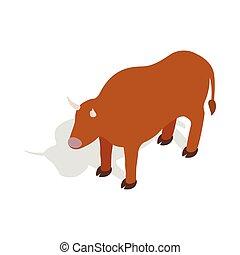 Switzerland cow icon, isometric 3d style - Switzerland cow...