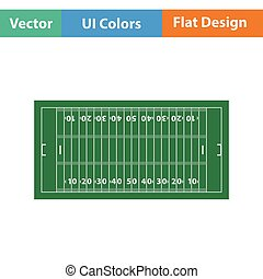American football field mark icon Flat color design Vector...