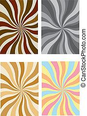 a set of swirly rays