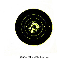 bullet holes in targets displaying precision shooting and...