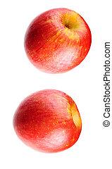 pair of cox\'s orange apples