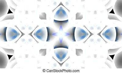 blue glass flower fancy pattern