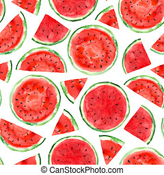 pattern with watermelon - Seamless pattern with watermelon....