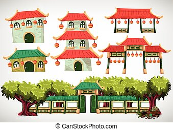 China house objects for the game and animation, game design...