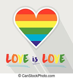 Rainbow pride flag Pattern heart