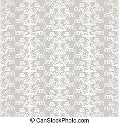 353 Silver diamond shape floral wallpapereps - Silver...