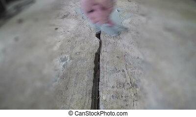 Tilt shift patching concrete