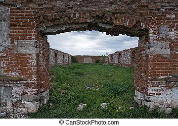 Dilapidated stud farm 19th century