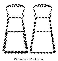Salt and pepper sign. Dot style or bullet style icon on...