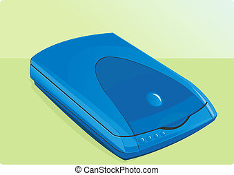 Scanner	 - Blue portable scanner