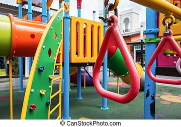 red loop in playground for kid in the park