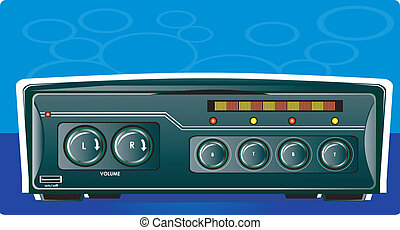 Car stereo - Illustration of Car stereo with radio