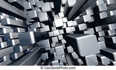 Abstract dynamic block graphic background