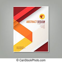 abstract line design background template for business annual...
