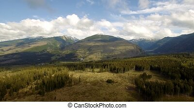 4K, Luftaufnahmen, schöne, slowakisch, Berge