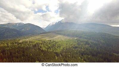 4K, Luftaufnahmen, schöne, slowakisch, Berge,