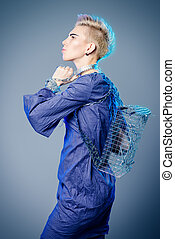 backpack of a metal - Fashionable designer collection with...
