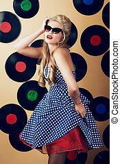 glamorous retro girl