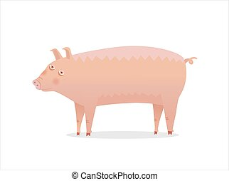 Piglet, Dodo collection - Pig - vector illustration of a...