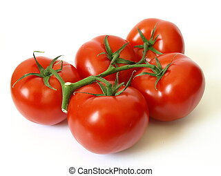 Tomatoes - Fresh tomatoes on white background