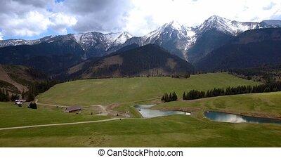 4K, Luftaufnahmen, hoch, Tatra, Berge,