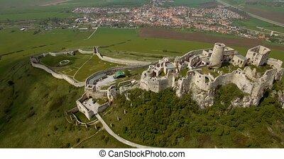 4K, Luftaufnahmen, uralt, hofburg, Slowakei,