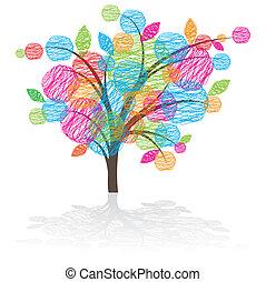 Graphic tree icon