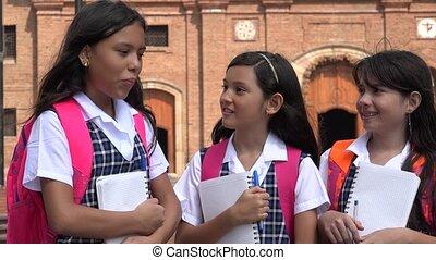 School Kids Joking  Laughing