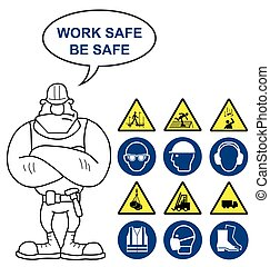 Health and safety and hazard signs