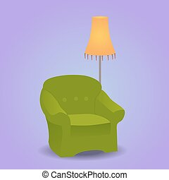 Vector illustration of a chair