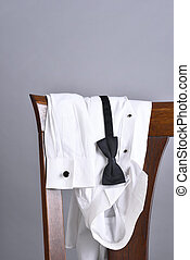 Tuxedo Shirt Bow Tie Chair