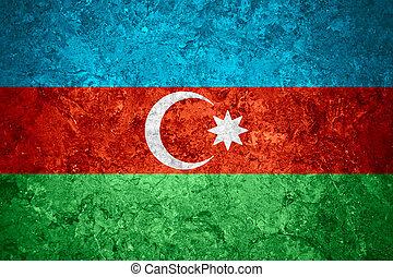 flag of Azerbaijan or Azerbaijani banner on vintage...