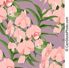 Orchid seamless pattern