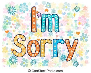 I am sorry design card