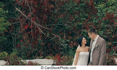 Wedding Couple On Nature - Happy new family love eah other