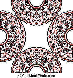 Geometric eastern seamless ornament for background design.